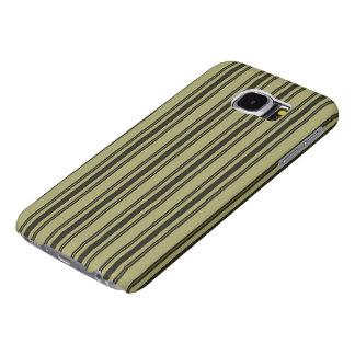 French Khaki Mattress Ticking Black Double Stripe Samsung Galaxy S6 Cases