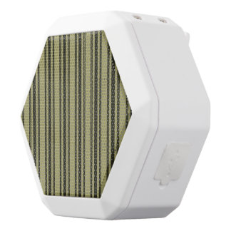 French Khaki Mattress Ticking Black Double Stripe White Bluetooth Speaker
