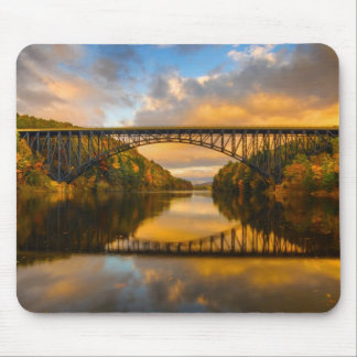 French King Bridge in Fall Mouse Pad