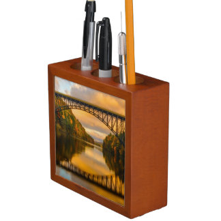 French King Bridge in Fall Pencil Holder