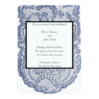 French Lace Invitation