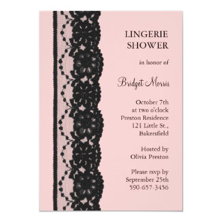 French Lace Lingerie Shower (pink) Card
