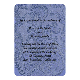 French Lace Wedding Card