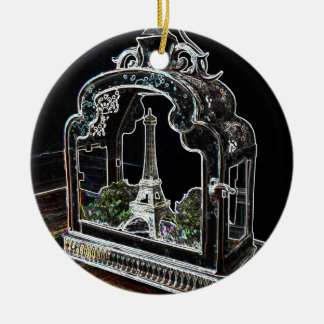 French Lantern with Eiffel Tower in Paris France Ornament