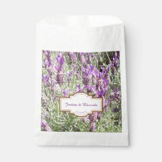 French Lavender Flowers Custom Wedding Favour Bag