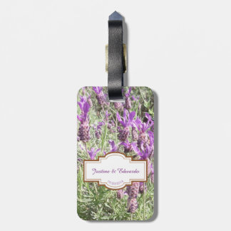 French Lavender Flowers Honeymoon Luggage Tags