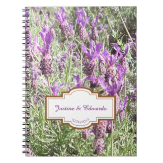 French Lavender Flowers Wedding Plans Note Book