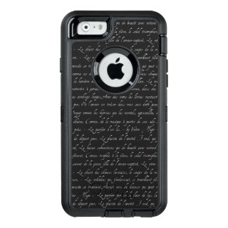 French Lettering Navy Changeable Chalkboard Color OtterBox iPhone 6/6s Case