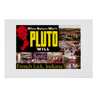 French Lick, Indiana Vintage Poster