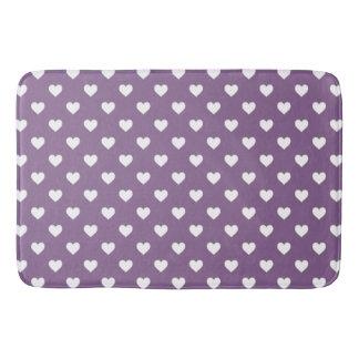 French Lilac Hearts Bath Mat