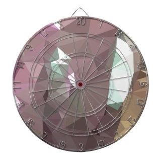 French Lilac Purple Abstract Low Polygon Backgroun Dartboards