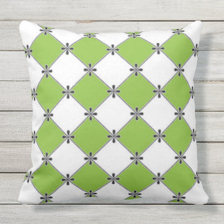 French-Lime-Diamond's-Outdoor-Indoor-Pillow-Set's Outdoor Cushion