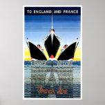 French Line Vintage Ship Advertisement Print