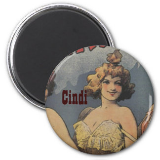 French Lingerie Bridal Shower Personalized 6 Cm Round Magnet