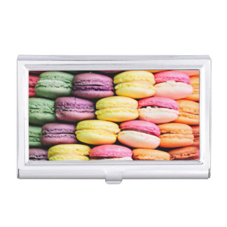 French macaron business card holder