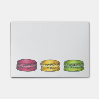 French Macaron Macarons Cookie Cookies Post It Post-it® Notes