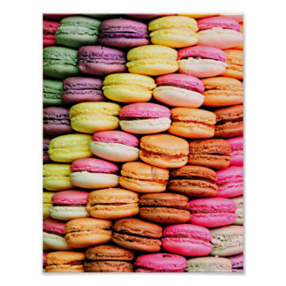 French macaron poster