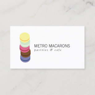Pastry chef logo business cards zazzle au french macaron stack logo for bakery pastry chef business card colourmoves