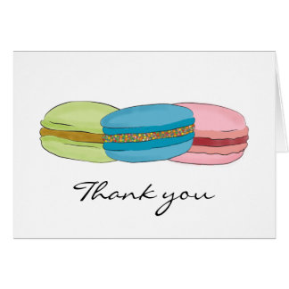 French Macarons (Macaroons) Thank You Card