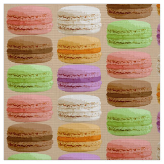 French Macarons - pastel colors Fabric