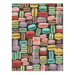 French Macarons Pop Art Postcard