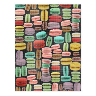 French Macarons Pop Art Postcard