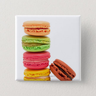French macaroons 15 cm square badge