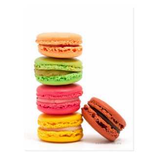 French macaroons postcard