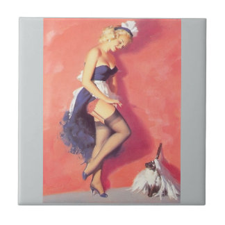 French maid small square tile