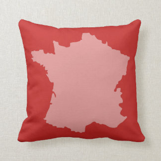 French Map design Cushion - Red