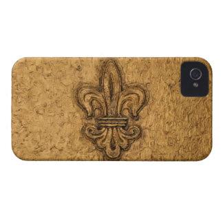 French Mardi Gras Fleur De Lis New Orleans Texture Case-Mate iPhone 4 Cases