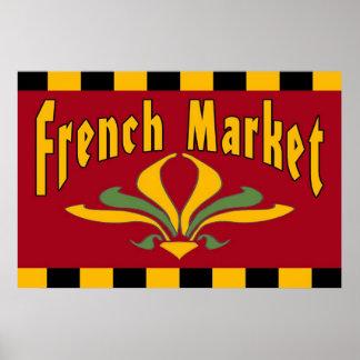 French Market Fleur De Lis Sign Poster