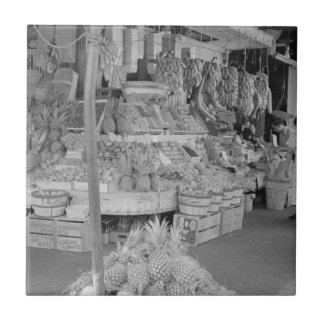 French Market Fruit Stand June 1936.jpg Small Square Tile