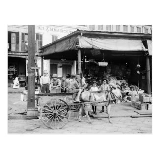 French Market, New Orleans, 1910 Postcard