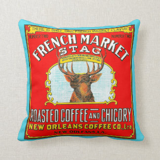 French Market Stag Roasted Coffee and Chicory Cushion