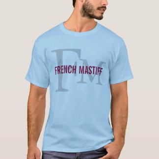 French Mastiff Breed Monogram Design T-Shirt