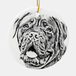 French Mastiff Ceramic Ornament