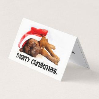 French Mastiff  Dog Tired Holiday Card