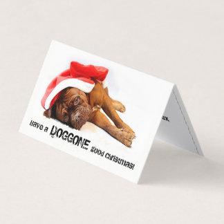 French Mastiff Doggone Good Holiday Card