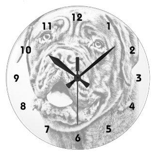 French Mastiff Large Clock