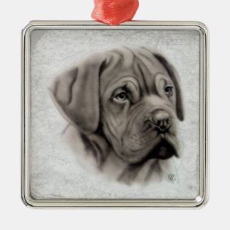 French Mastiff Metal Ornament
