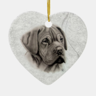 French Mastiff Portrait Ornament