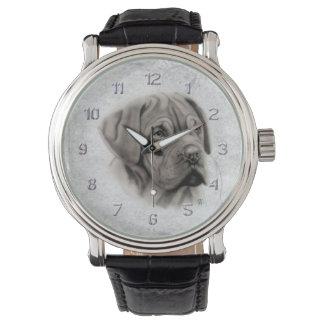 French Mastiff Portrait Wristwatches