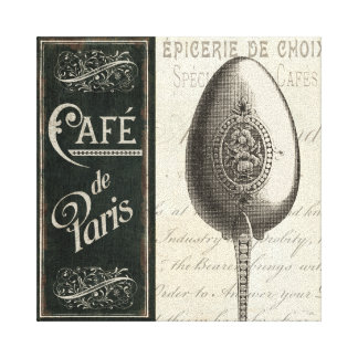 French Menu Canvas Print