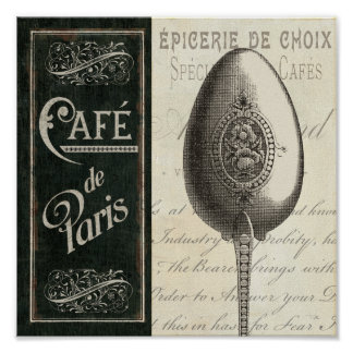 French Menu Poster
