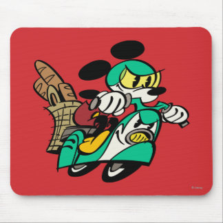 French Mickey | Racing in Vespa Mouse Pad