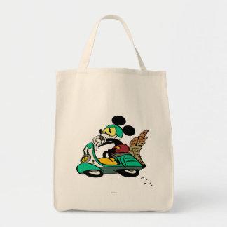 French Mickey   Speeding Vespa Tote Bag