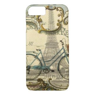 french modern vintage bike paris eiffel tower iPhone 8/7 case