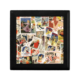 French Montage design 2 Small Square Gift Box