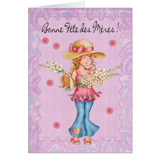 French Mother's Day Card, Bonne Fete Des Meres Card